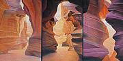 Slot Canyon Painting Originals - Sacred Spaces by David Howells