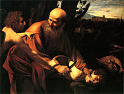 Legend Digital Art - Sacrifice of Issac by Caravaggio