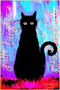 Sad And Ruffled Cat Explosive Color Version Print by Donatella Muggianu