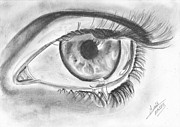 Drop Drawings Originals - Sad eye by Annie GODET