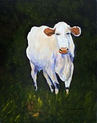 Pasture Painting Posters - Sad Eyes Poster by Barbara Pirkle