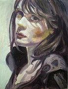 Lit Painting Originals - Sad Zooey by May Lively
