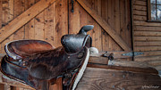 Folk Art Photos - Saddle Rest by Steven Milner