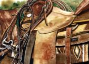 Saddle Texture Print by Nadi Spencer