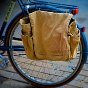 Saddlebag Posters - Saddlebag on urban bicycle Poster by Berkehaus Photography