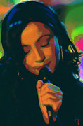 Microphone Digital Art Prints - Sade 2 Print by Byron Fli Walker