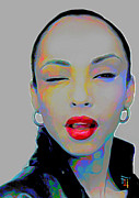 Celebrity Digital Art Framed Prints - Sade 3 Framed Print by Byron Fli Walker