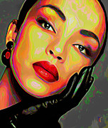 Rock Star Portraits Digital Art - Sade 4 by Byron Fli Walker