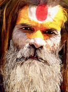 Portraits Art - Sadhus by James Shepherd