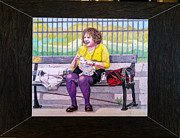 Park Scene Originals - Sadie Sadie Knitting Lady by Betsy Frahm