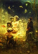1876 Paintings - Sadko - Underwater Kingdom by Pg Reproductions
