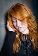 Social Isolation Posters - Sadness - moody portrait of a redhead girl. Poster by Alstair Thane