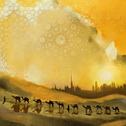 Dubai Paintings - Safari Desert by Corporate Art Task Force
