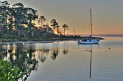 Lynn Jordan Art - Safe Mooring at Oyster Bay by Lynn Jordan
