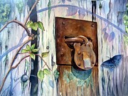 Barn Door Painting Prints - Safekeeping Print by Patricia Pushaw