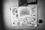 Procedures Prints - Safety Information Sheet In Interior Of Dehaviland Dhc-3 Otter Seaplane At Key West Florida Keys Usa Print by Joe Fox