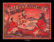 Oriental Teapot Prints - Safety Matches. Board Games in the Orient Print by I M DeKalb