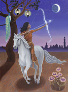Astrology Paintings - Sagittarius-Saraswati by Karen MacKenzie