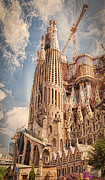 Exterior Framed Prints - Sagrada Familia Framed Print by Erik Brede