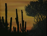 Aaron Thomas - Saguaros at Dusk
