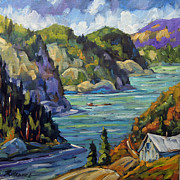 Artgallery Paintings - Saguenay Fjord by Prankearts by Richard T Pranke