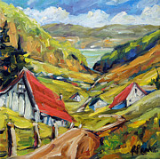 Canada Paintings - Saguenay Valley by Prankearts by Richard T Pranke