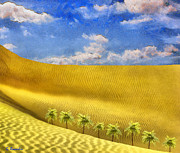 Pharaoh Painting Prints - Sahara desert Print by George Rossidis