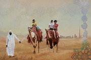 Watercolor Painting Originals - Saharan Culture  by Corporate Art Task Force