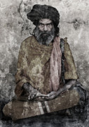 Religious Mixed Media Prints - Sahib Print by Ioannis Lelakis