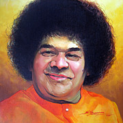 Baba Paintings - Sai Baba by Sundarakannan Srinivasan