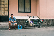 Baskets Photo Originals - Sai gon sidewalk coffee by Duy Black