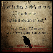 Poet Framed Prints - Said Edgar Allan Poe Framed Print by Cinema Photography