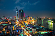 Fototrav Print - Saigon Aerial Night...