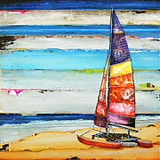 Sailboat Ocean Mixed Media Posters - Sail Away Poster by Danny Phillips