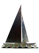 Transportation Sculpture Prints - Sail Away Print by Lisa Dionne