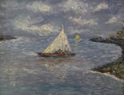Oil Paintings - Sail Away by Rhonda Clapprood