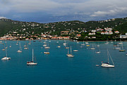 Saint Christopher Photo Prints - Sail Boats And St Thomas Print by Willie Harper
