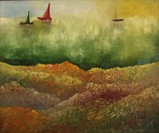 Shesh Tantry Prints - Sail Boats II Print by Shesh Tantry