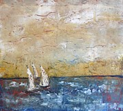 Surfer Art Originals - Sail Day by Russell Coletti