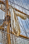 Sail Boats Prints - Sail Ship Mast  Print by Susan Candelario