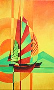 Fishing Enthusiast Art - Sail to Shore by Tracey Harrington-Simpson