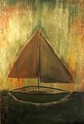Toy Boat Painting Posters - Sailboat Poster by Cindy Wilson