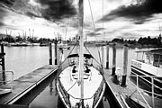 Docked Sailboat Photo Framed Prints - Sailboat Docked Framed Print by John Rizzuto