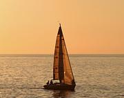Sailboat In Hawaii Print by Kim Hojnacki