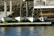 Docked Sailboat Originals - Sailboat  by Katie McLennan