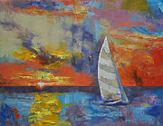 Sailboat Paintings - Sailboat by Michael Creese