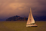 Chuck Caramella - Sailboat off Sausali...