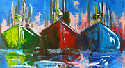 Acrylic Art Painting Prints - Sailboat Print by Patricia Awapara