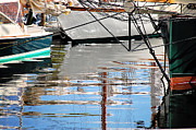 Sailboats In Water Prints - Sailboat Reflections Print by Darlene Terry