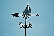 Weathervane Prints - Sailboat Weathervane Print by Tara Potts